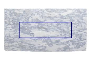 Küchen Arbeitsplatte aus Calacatta Blau Marmor poliert für Küche
