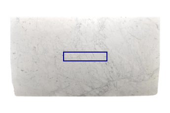 Marche de Statuarietto Venato marbre sur mesure pour salon ou entrée 90x20 cm