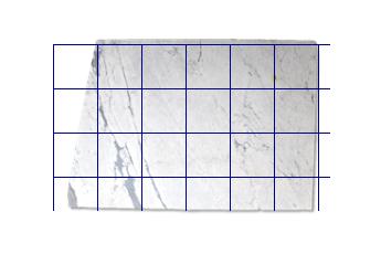 Fliesen 40x40 cm aus Statuarietto Venato Marmor nach Mass für Wohnzimmer oder Eingang
