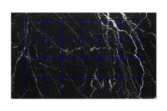 Fliesen 40x40 cm aus Nero Marquina Marmor nach Mass für Badezimmer
