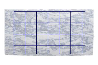 Fliesen 40x40 cm aus Calacatta Blau Marmor nach Mass für bodenplatten