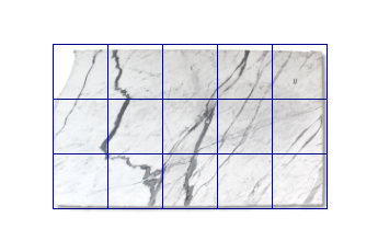 Tiles 50x50 cm made of Statuario Venato marble cut to size for wall covering