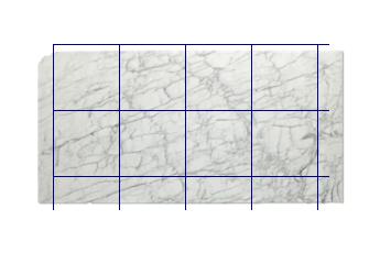 Fliesen 60x60 cm aus Calacatta Zeta Marmor nach Mass für Badezimmer