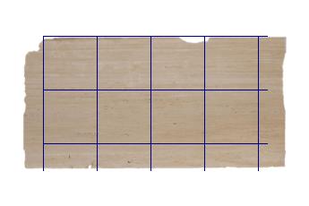 Pavimenti 60x60 cm di Travertino Romano marmo su misura per pavimenti