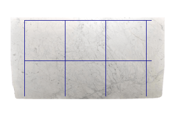 Tiles 80x80 cm made of Statuarietto Venato marble cut to size for flooring